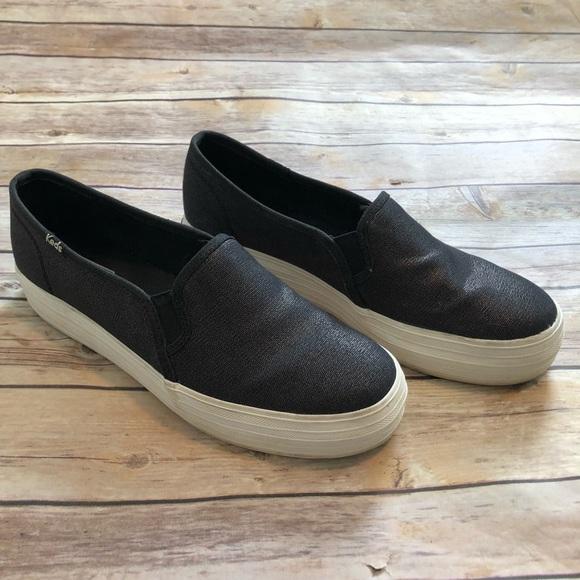 63511c62297 Keds Shoes - KEDS Triple Decker Slip on Sneakers Black 9